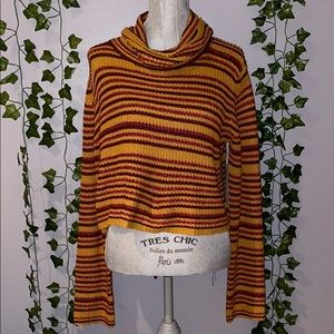 Woman's UO Striped Turtleneck Sweater M NWT